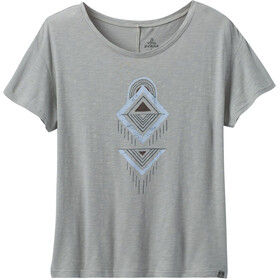 Prana Chez Camiseta Mujer, heather grey tribal